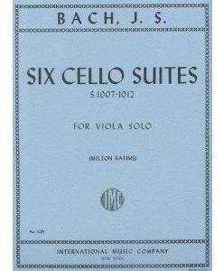 Bach, J.S. - 6 Cello Suites, BWV 1007-1012 - Viola solo - by Milton Katims - International..
